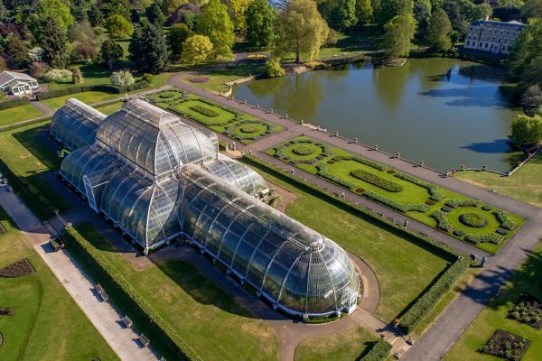 Aerial view of the Palm House, Kew Gardens